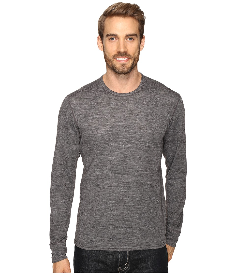 Hot Chillys - Wool Double Layer Crew Neck (Charcoal Heather) Men's Clothing