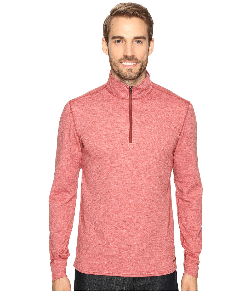 Hot Chillys - Wool Double Layer Zip-T (Brick Heather) Men's Clothing