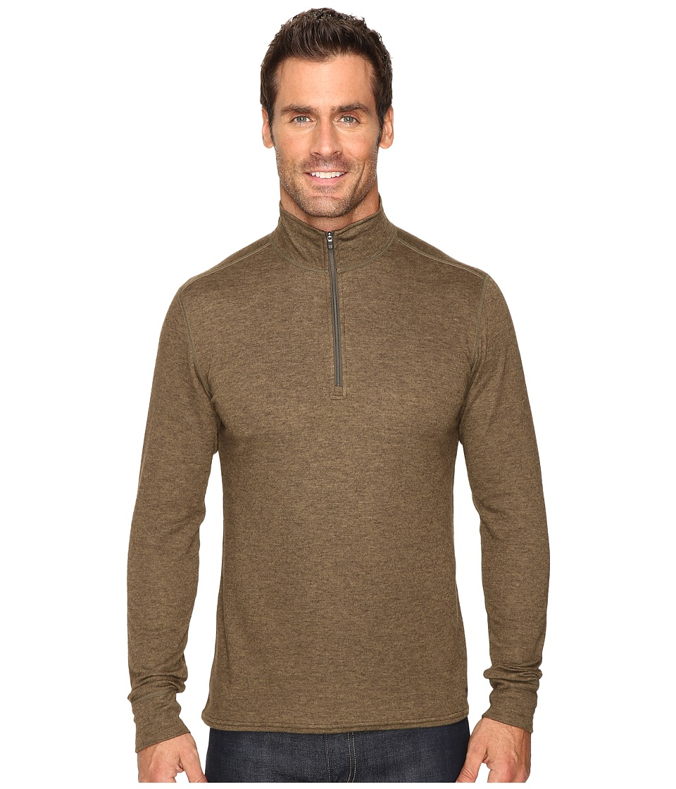 Hot Chillys - Wool Double Layer Zip-T (Olive Drab Heather) Men's Clothing