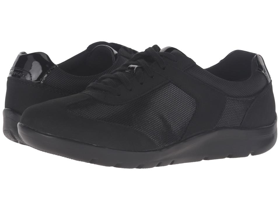 Rockport - Truwalk Zero Moreza T-Toe (Black Nubuck) Women's Lace up casual Shoes