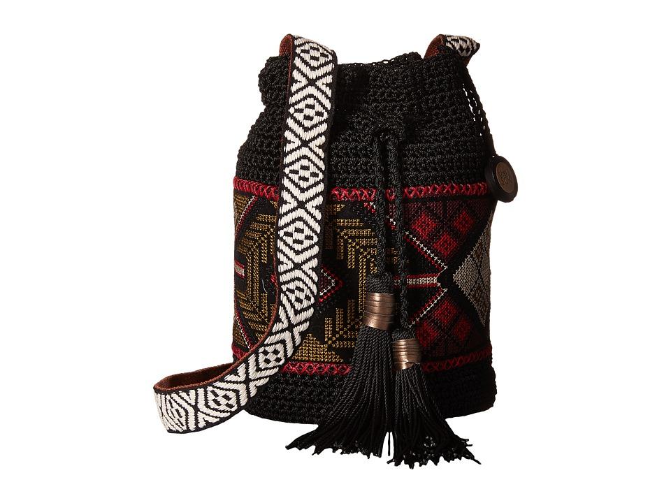 The Sak - Sayulita Drawstring (Black Tribal) Drawstring Handbags