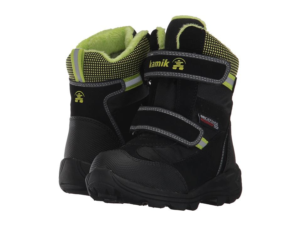 Kamik Kids Slate (Toddler/Little Kid/Big Kid) (Black) Girls Shoes