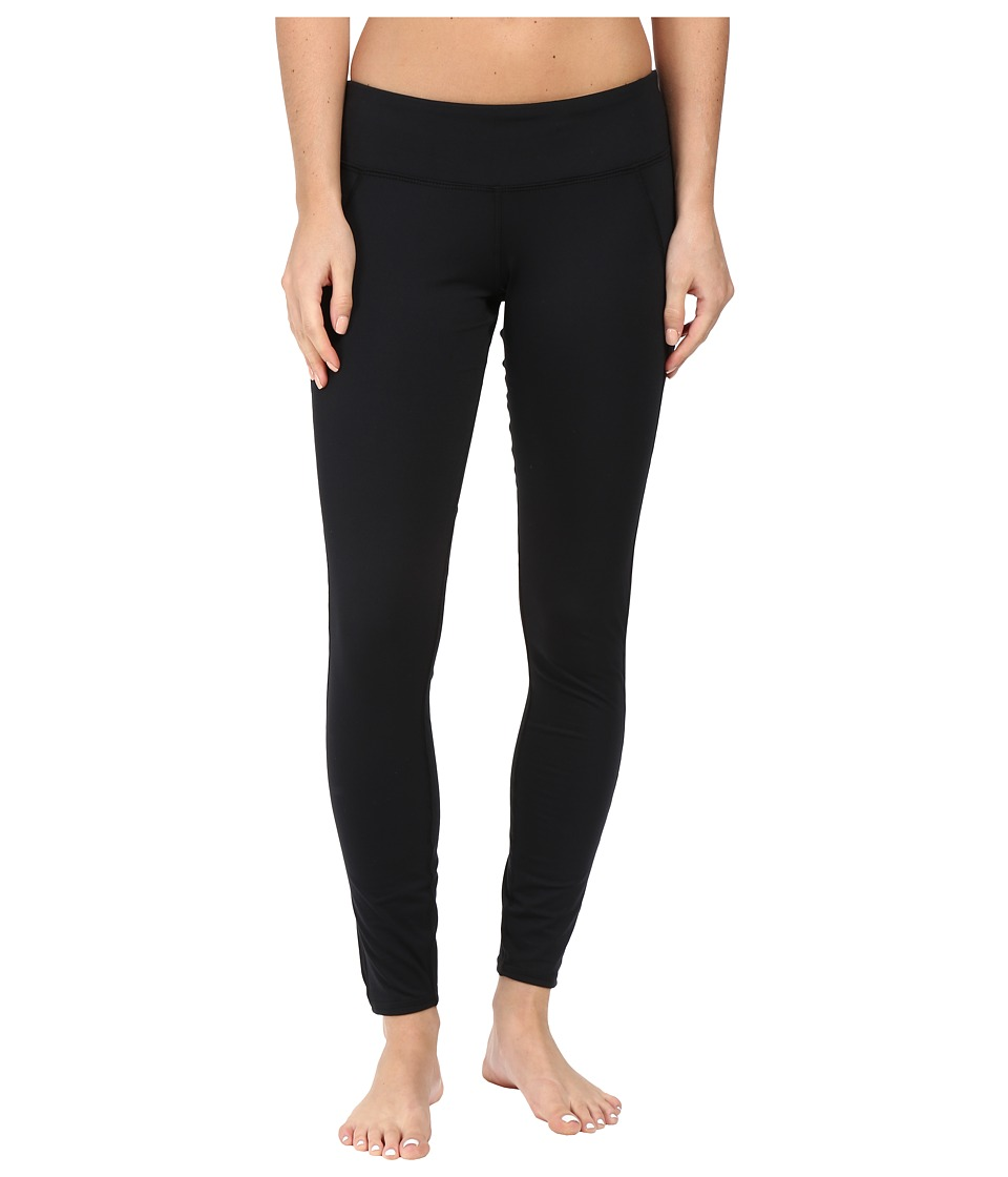 Hot Chillys - MTF Flex Leggings (Black/Black) Women's Casual Pants
