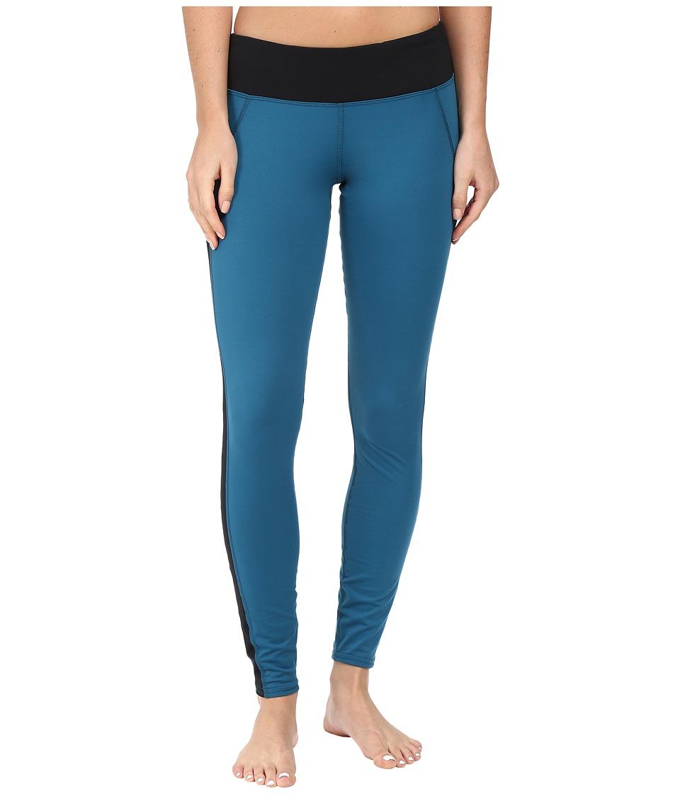 Hot Chillys MTF Flex Leggings (Lagoon/Black) Women's Casual Pants