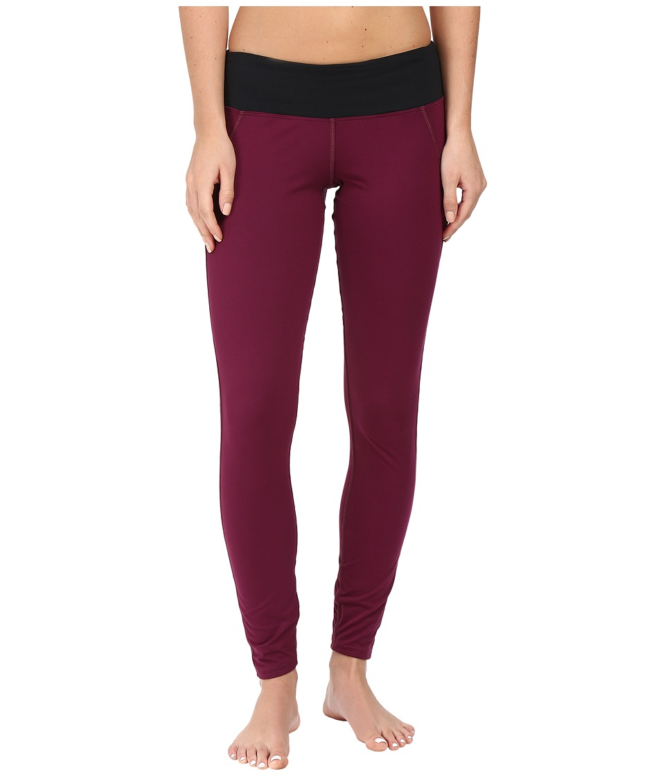 Hot Chillys - MTF Flex Leggings (Viola/Black) Women's Casual Pants