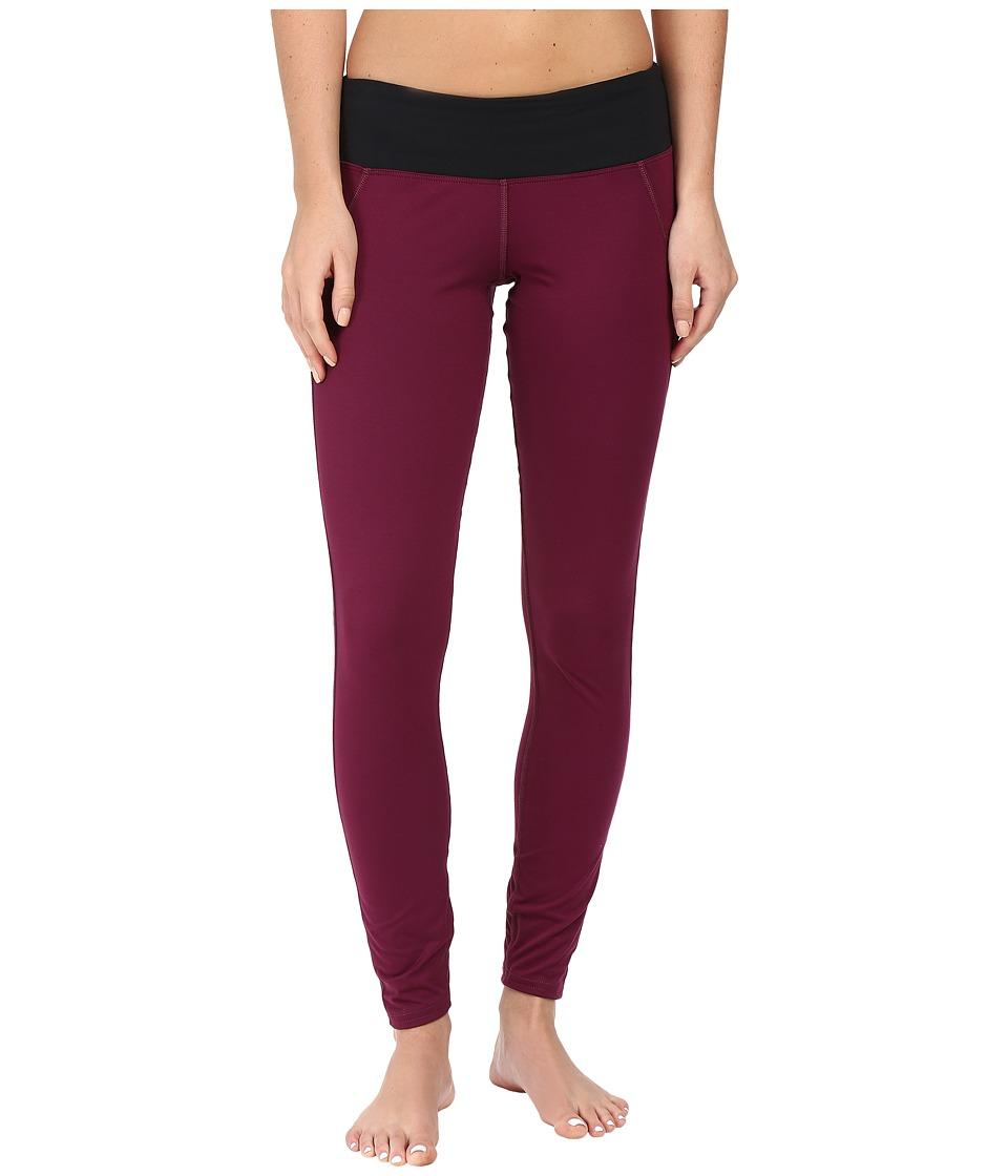 Hot Chillys MTF Flex Leggings (Viola/Black) Women's Casual Pants