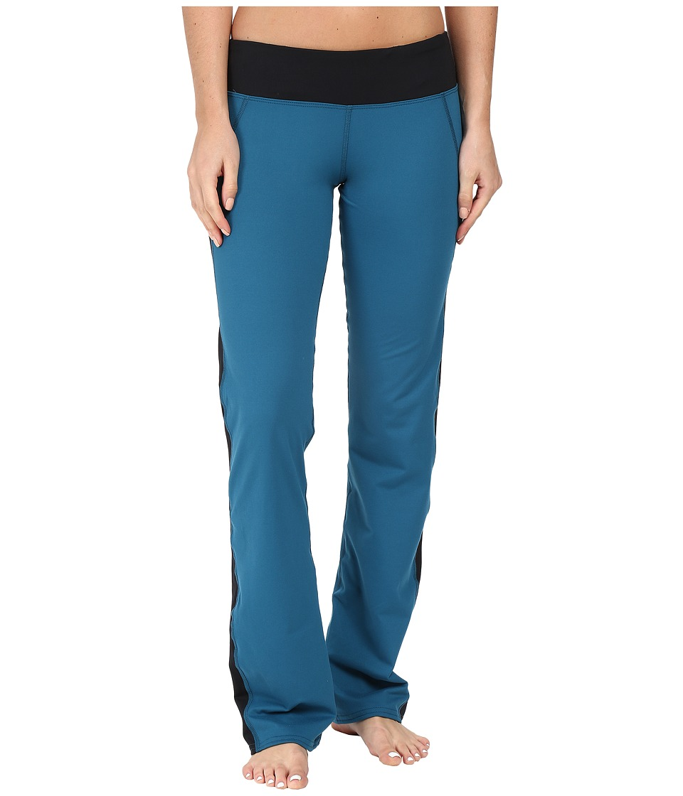 Hot Chillys - MTF Flex Flare Pants (Lagoon/Black) Women's Casual Pants