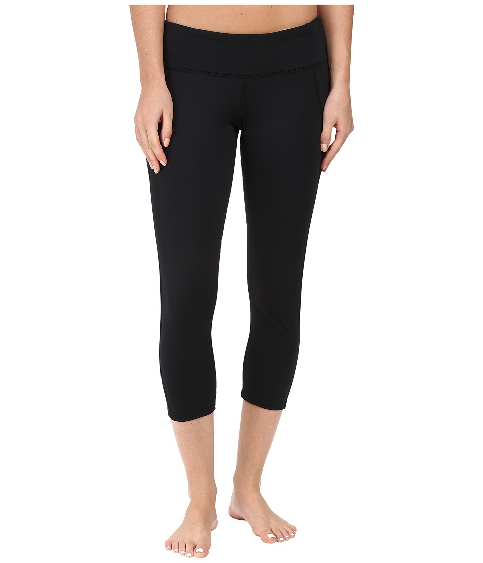 Hot Chillys - MTF Flex Capris (Black/Black) Women's Capri