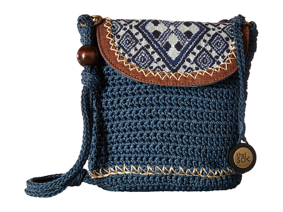The Sak - Sayulita Flap (Blue Diamond) Handbags