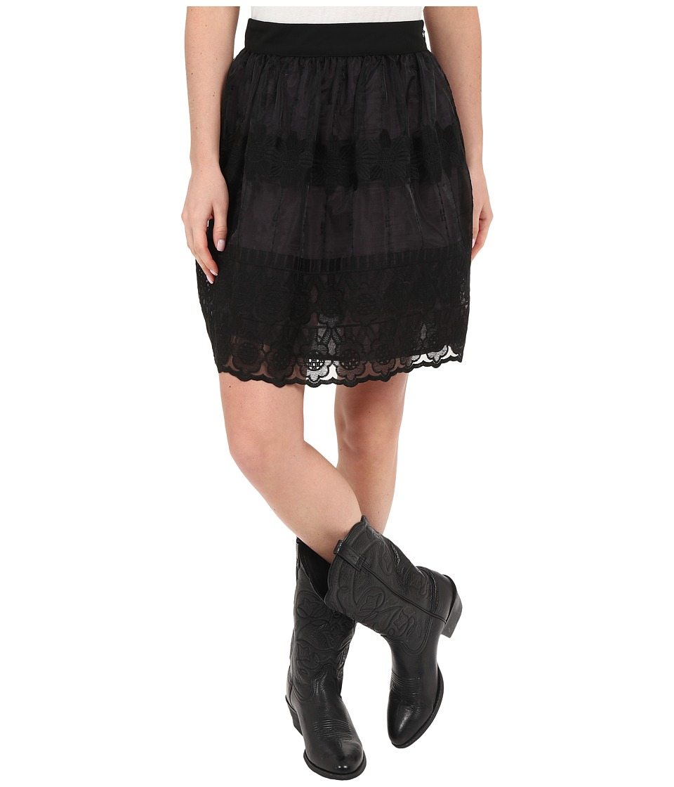 Stetson Black Organza Skirt (Black) Women