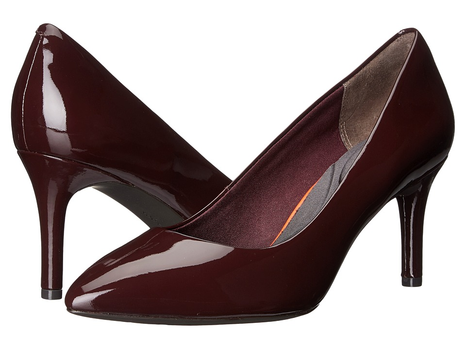 Rockport - Total Motion 75mm Pointy Toe Pump (Dark Vino Patent) High Heels
