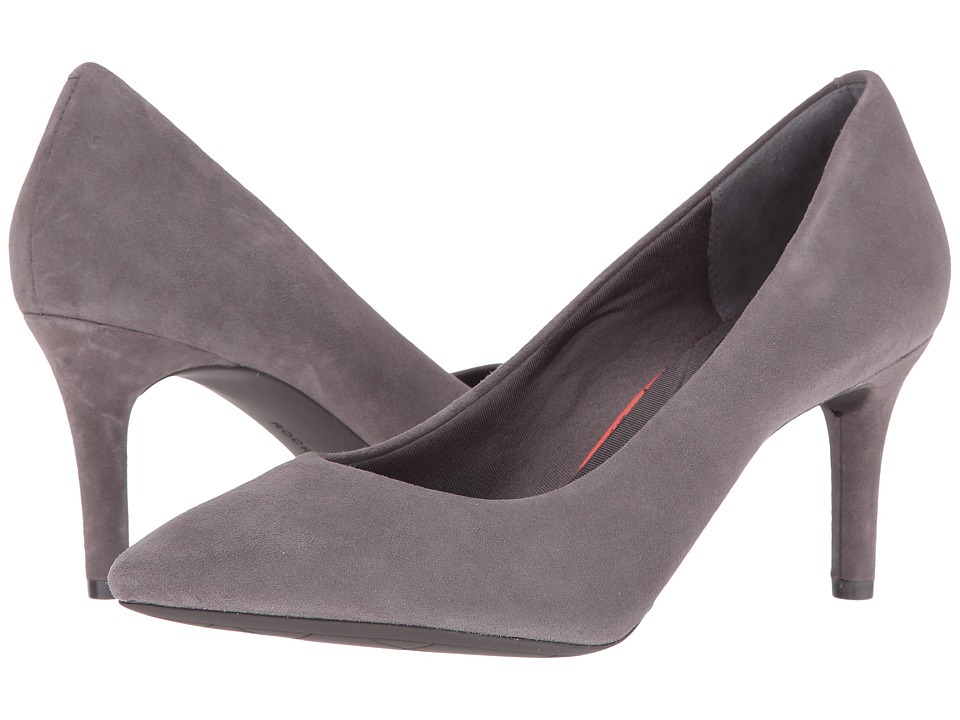 Rockport - Total Motion 75mm Pointy Toe Pump (Eiffel Tower Kid Suede) High Heels