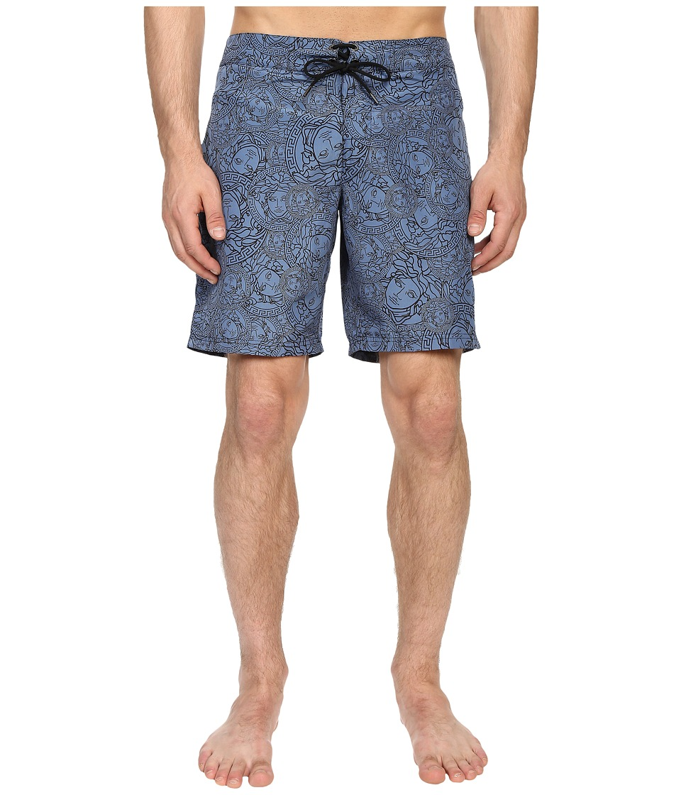 Versace - Medusa Nylon Long Trunk (Cornflower) Men's Swimwear