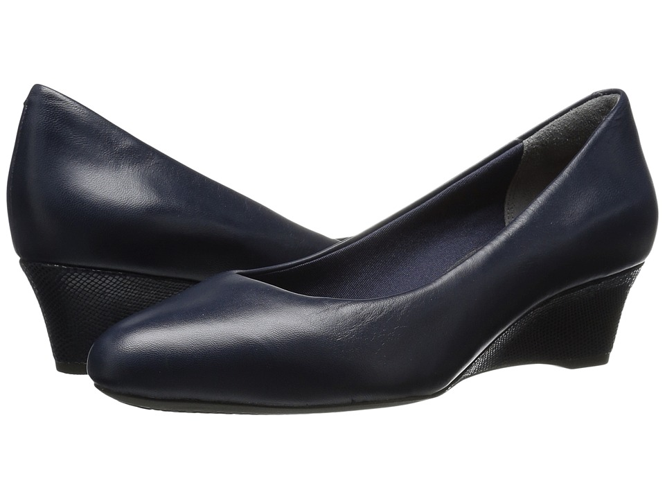 Rockport - Total Motion Catrin (Deep Ocean Leather) Women's Shoes