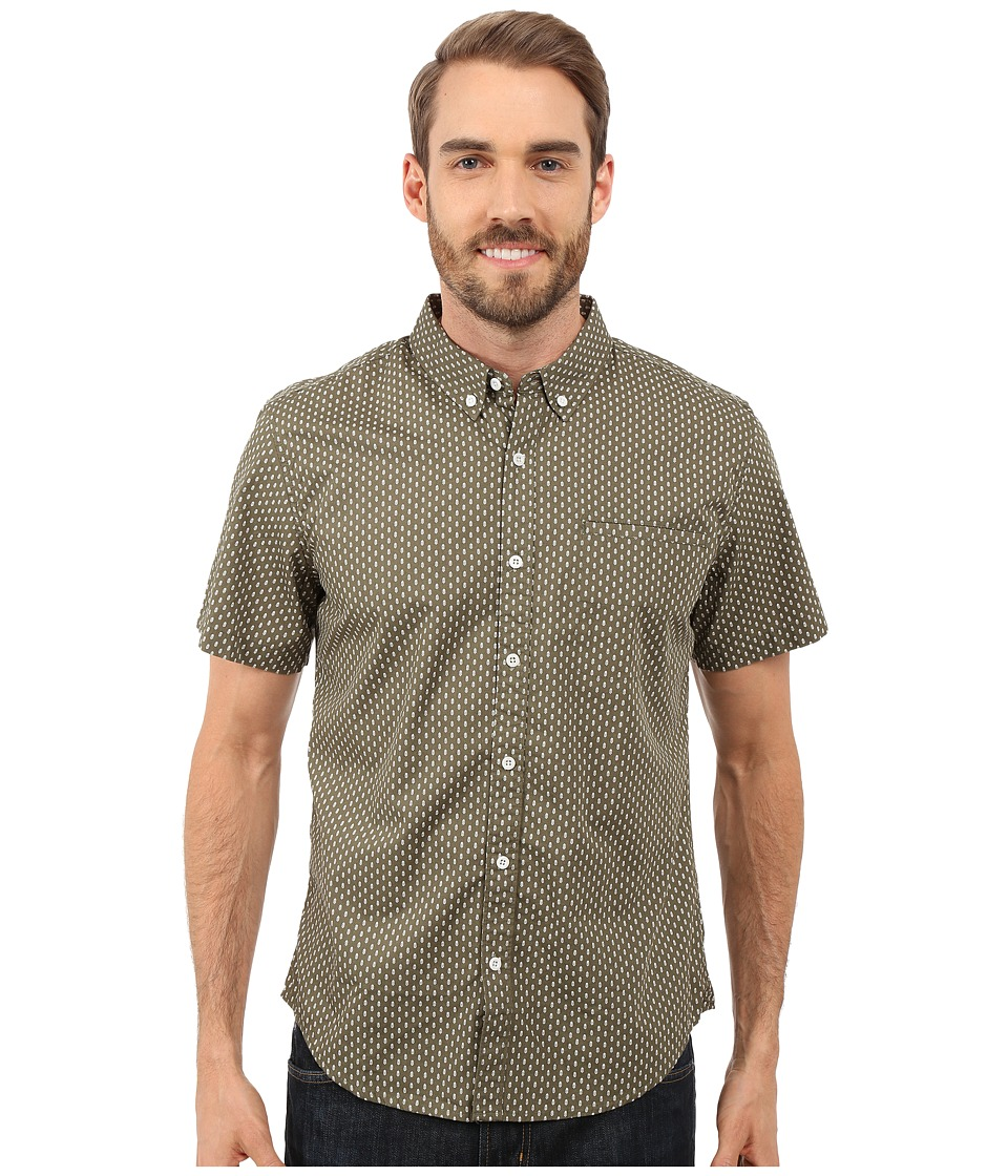 United By Blue - Walker Short Sleeve Shirt (Green) Men's Clothing