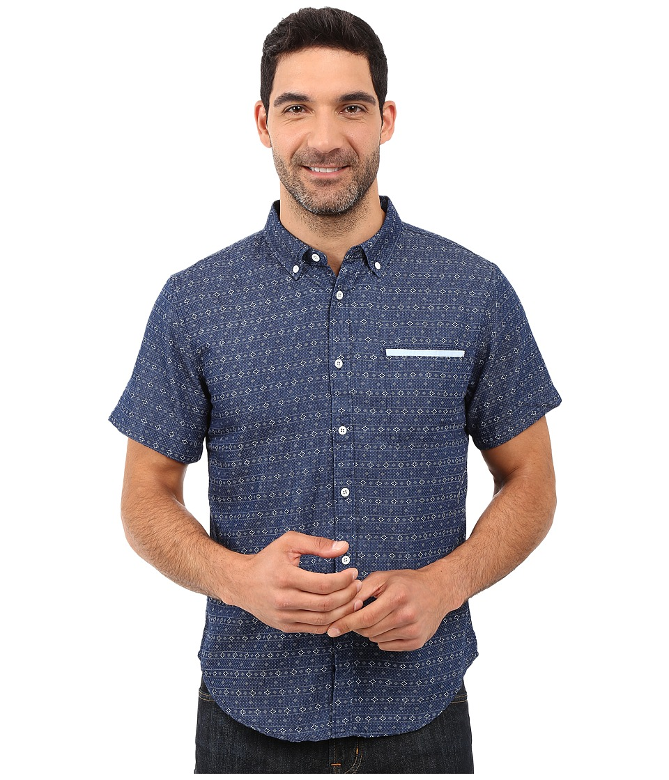 United By Blue - Wenlock Chambray (Geo Stripe) Men's Clothing