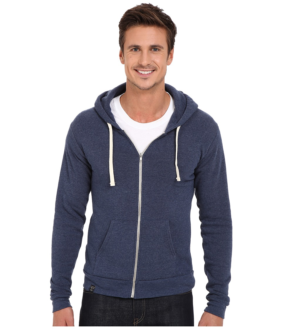 United By Blue - Tafton Zip-Up Hoodie (Blue) Men's Sweatshirt