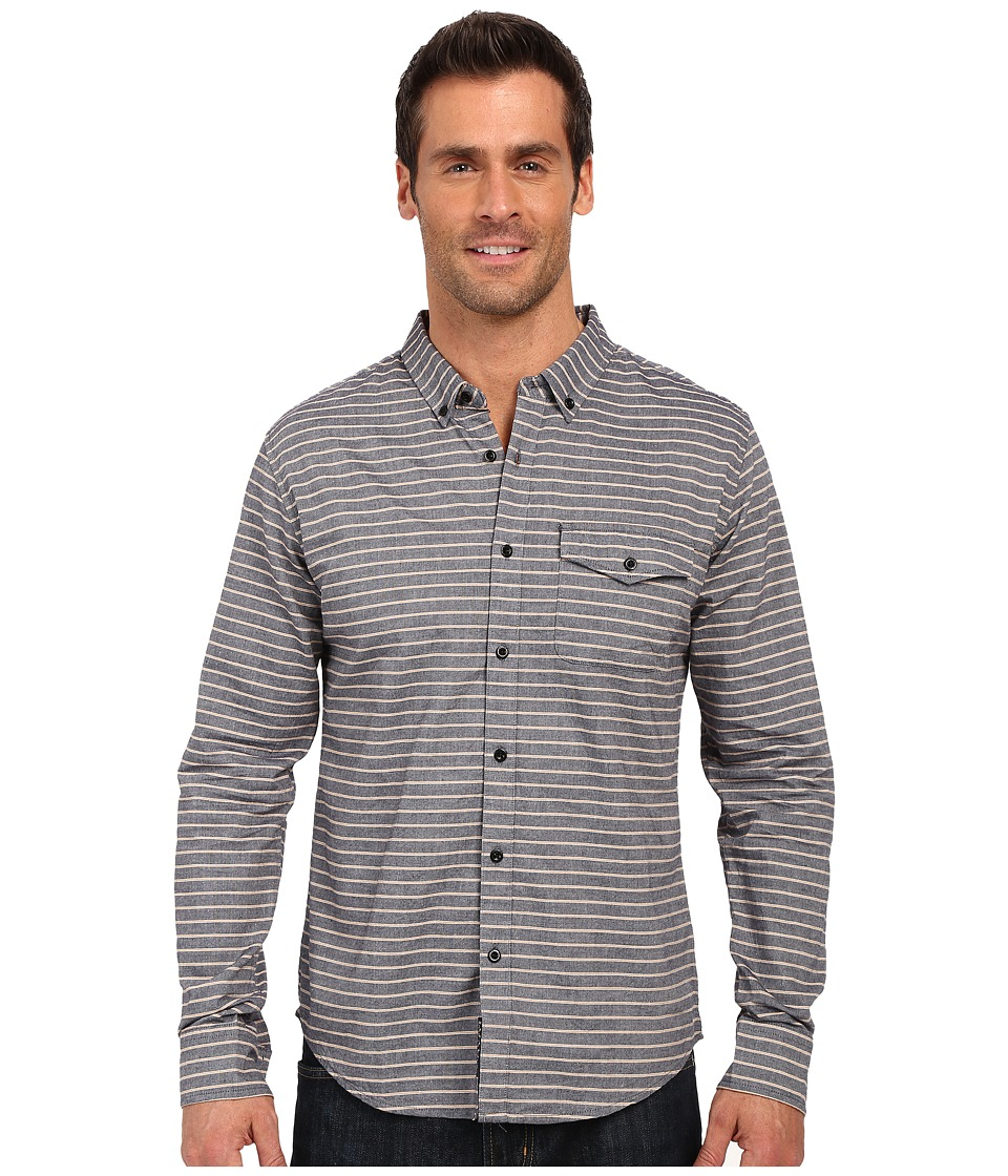 United By Blue - Lockport Button Down (Navy/Yellow) Men's Long Sleeve Button Up