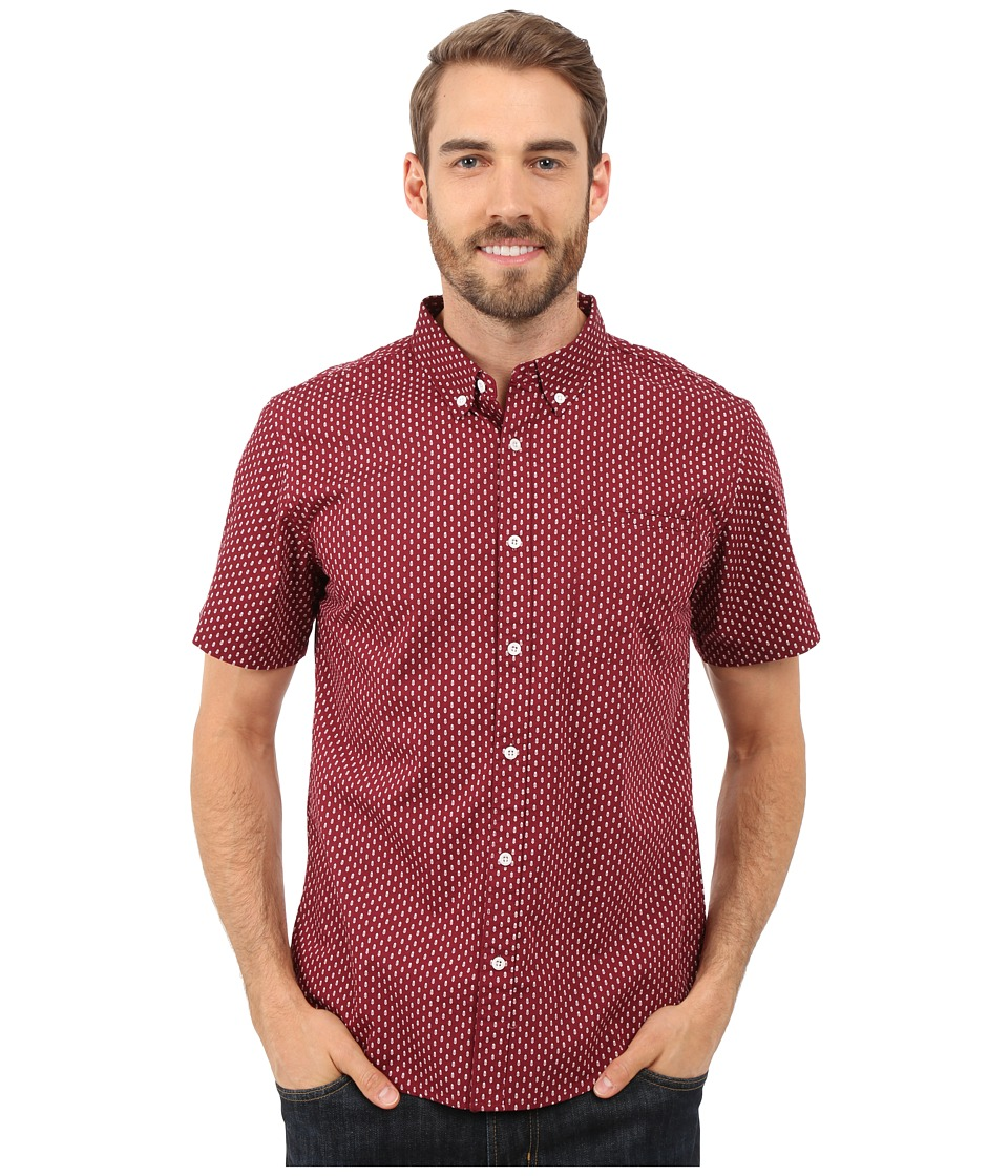 United By Blue - Walker Short Sleeve Shirt (Burgundy) Men's Clothing