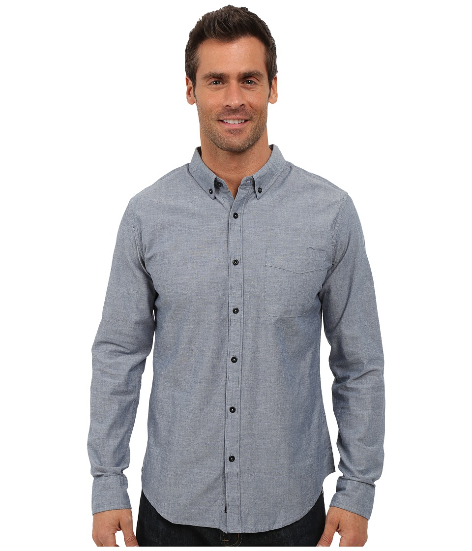 United By Blue - Bryce Button Down (Blue) Men's Clothing