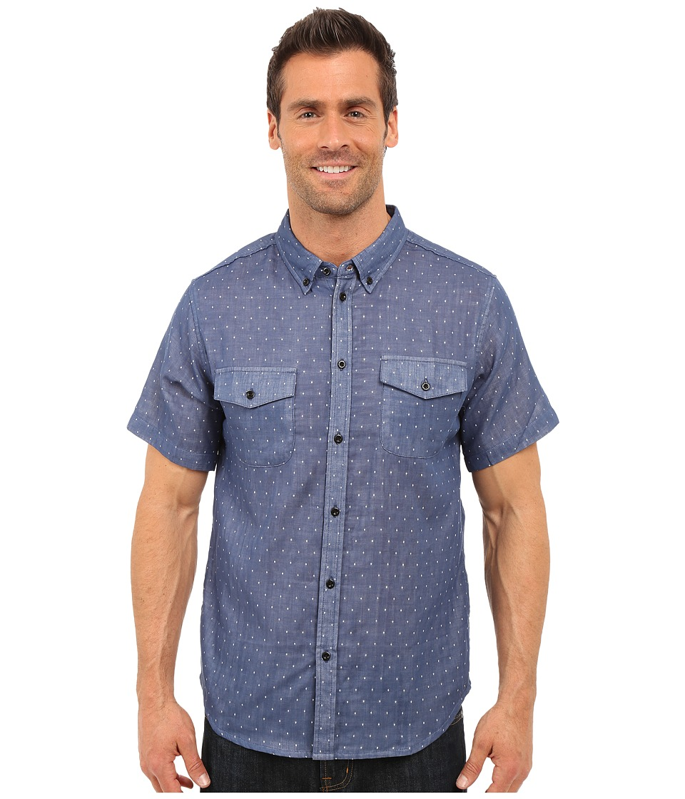 United By Blue - Clark Dot (Blue) Men's Clothing