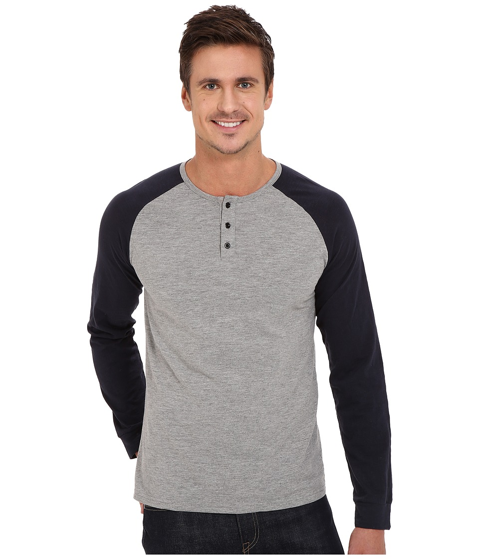 United By Blue - Ludlow Henley (Gray/Navy) Men's Clothing