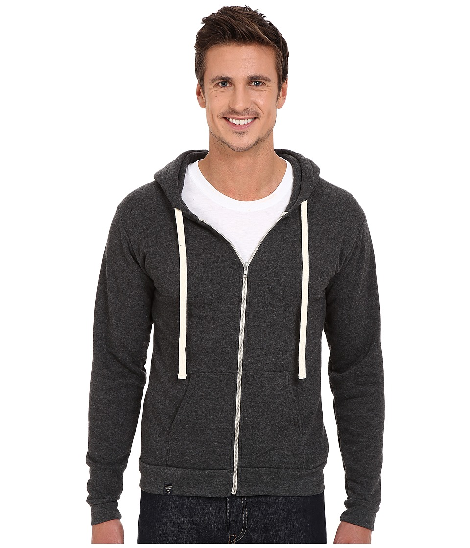 United By Blue - Tafton Zip-Up Hoodie (Grey) Men's Sweatshirt