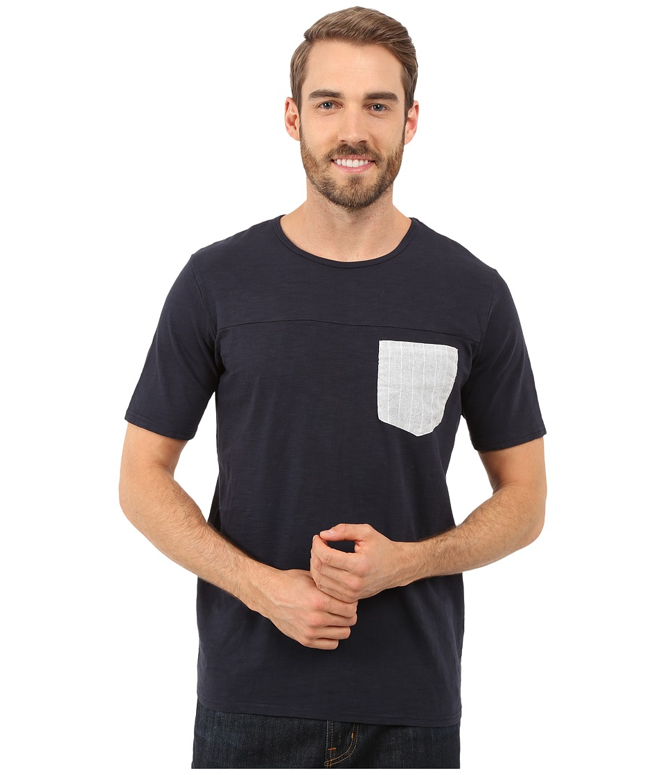 United By Blue - Pattern Pocket Shirt (Navy) Men's Clothing