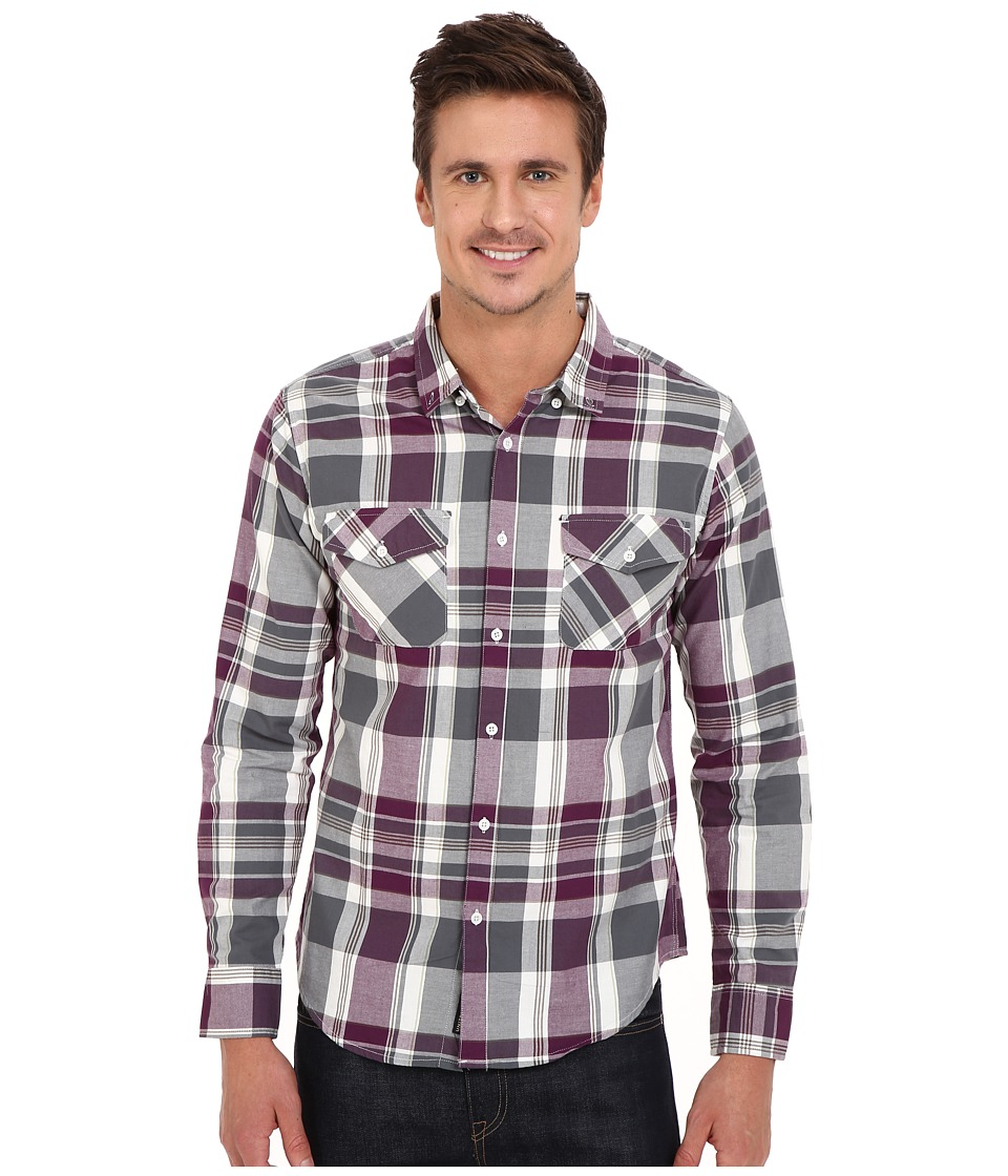United By Blue - South Plaid (Purple/Olive) Men's Clothing