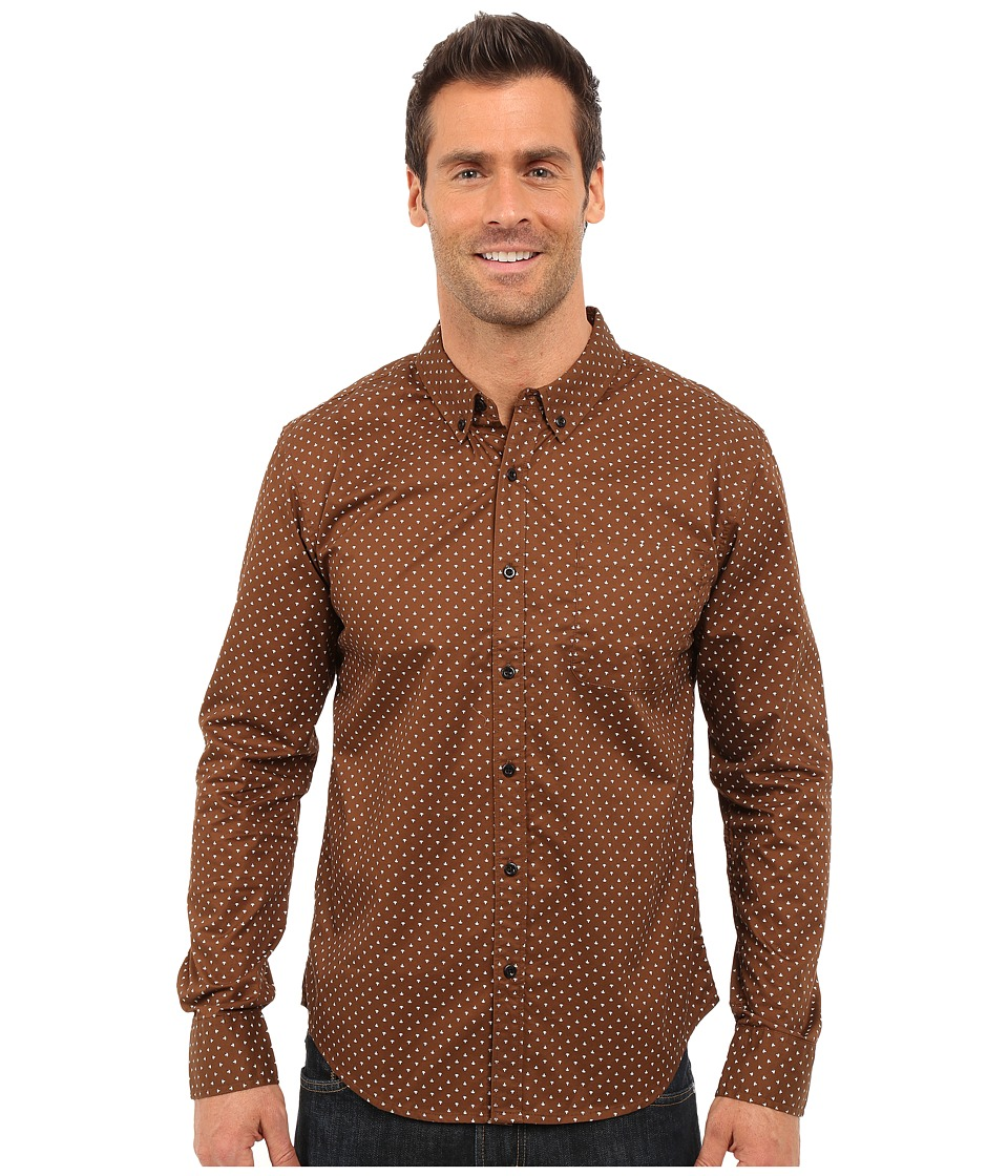 United By Blue - Firefly Button Down (Brown) Men's Clothing