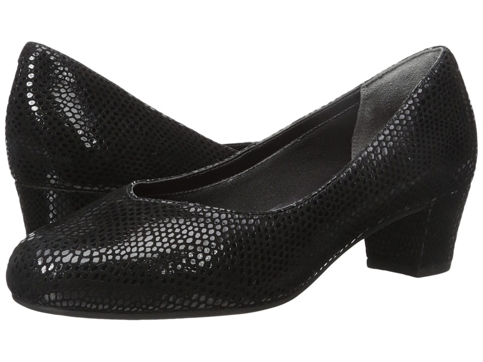 Rockport - Total Motion Charis (Black Mamba Snake) Women's Shoes