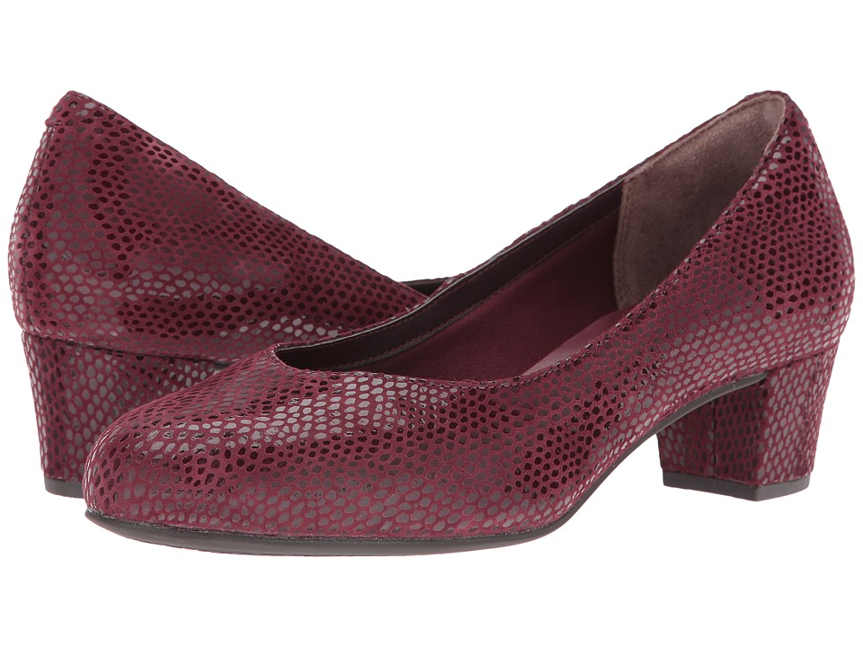 Rockport - Total Motion Charis (Windsor Wine Mamba Snake) Women's Shoes