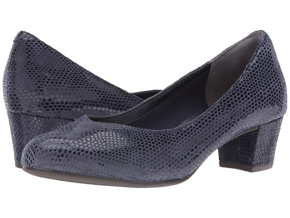Rockport - Total Motion Charis (Deep Ocean Mamba Snake) Women's Shoes