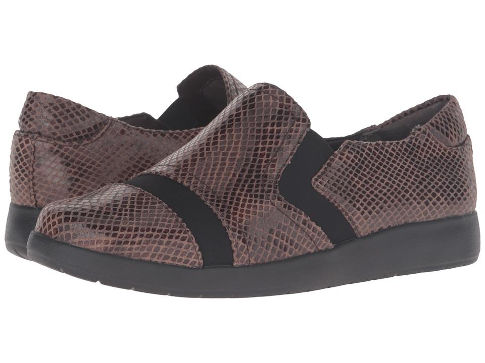 Rockport - Devona Demsa (New Taupe Shiny Python) Women's Slip on Shoes