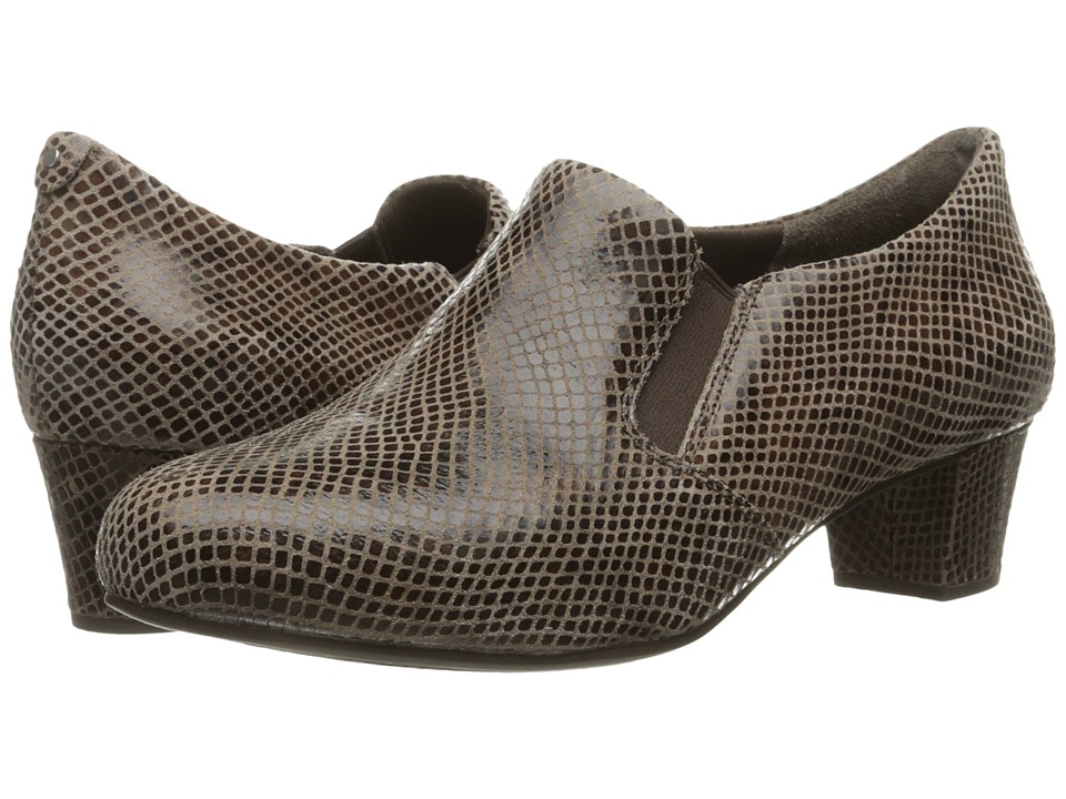 Rockport - Total Motion Cherene (New Taupe Shiny Python) Women's Slip on Shoes