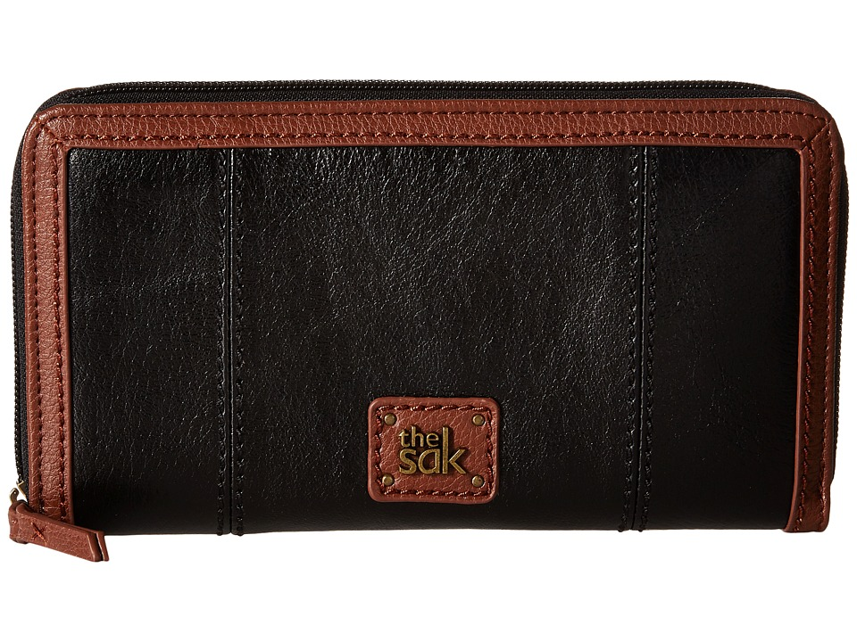 The Sak - Iris Zip Around Wallet (Black Onyx) Wallet Handbags