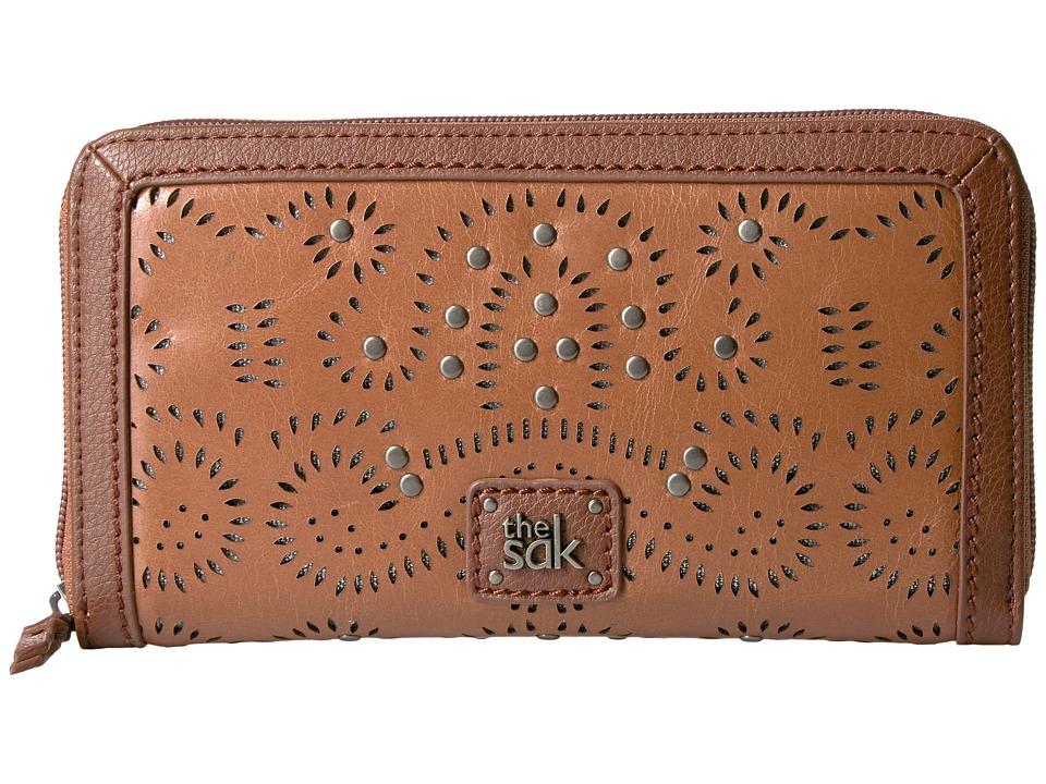 The Sak - Iris Zip Around Wallet (Tobacco Swirl) Wallet Handbags