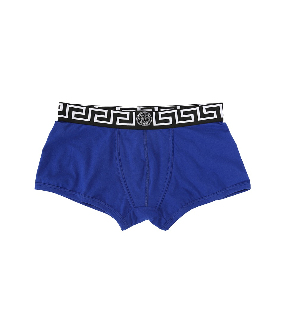 Versace - Iconic Long Boxer Brief with Black Band (Bluette) Men's Underwear