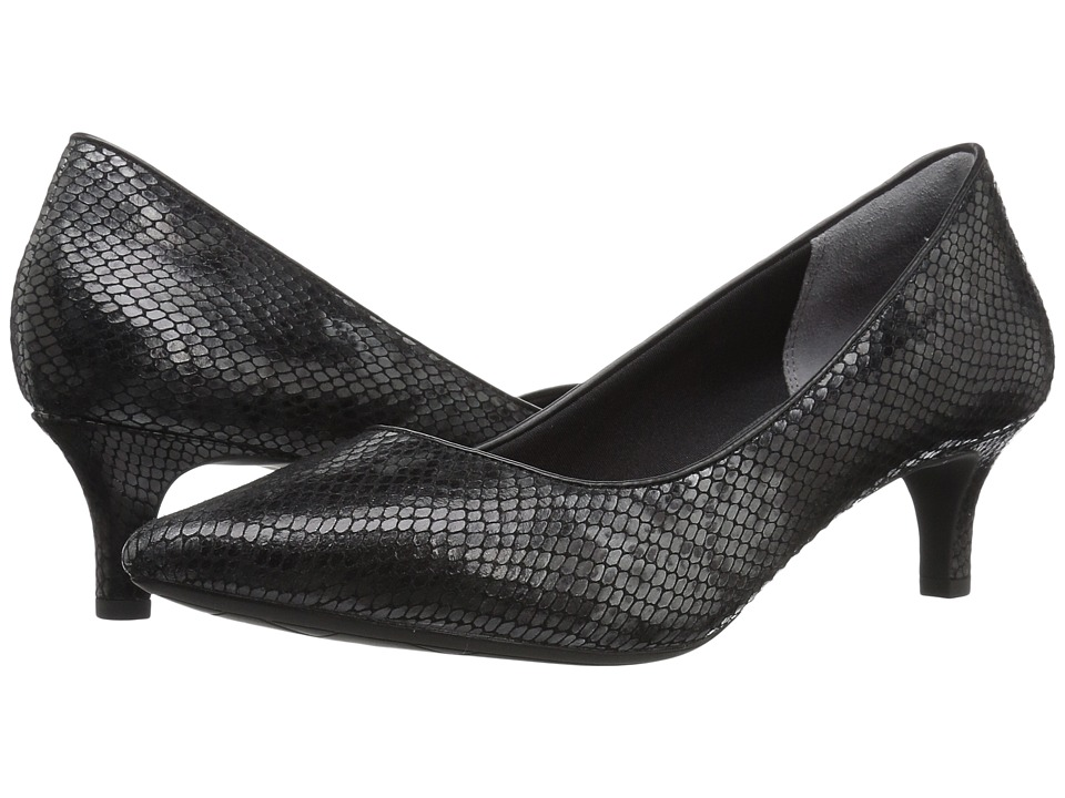 Rockport - Total Motion Kalila Pump (Black Multi Snake) High Heels