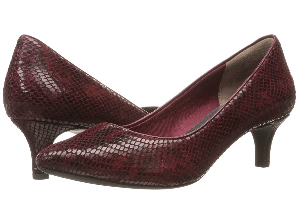 Rockport - Total Motion Kalila Pump (Cabernet Multi Snake) High Heels