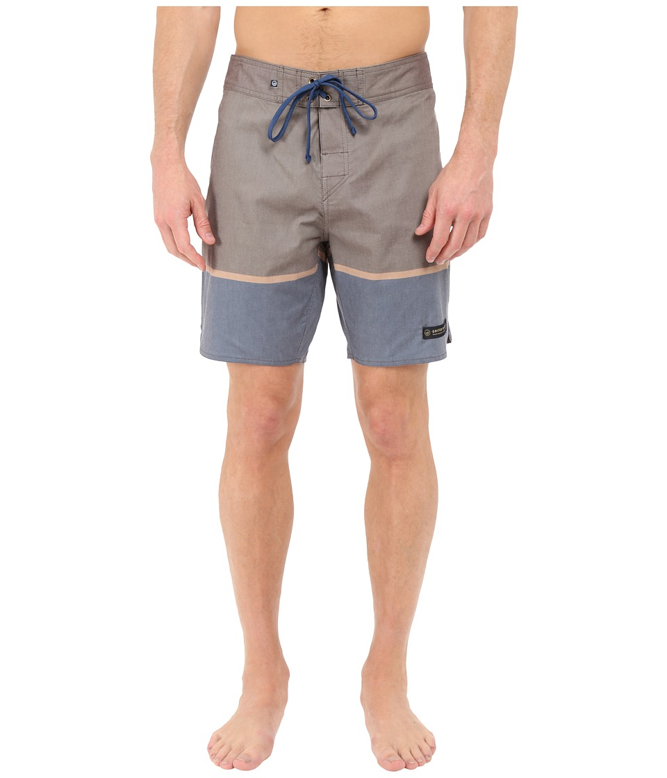 United By Blue Clear Creek Scallop Boardshorts (Brown) Men