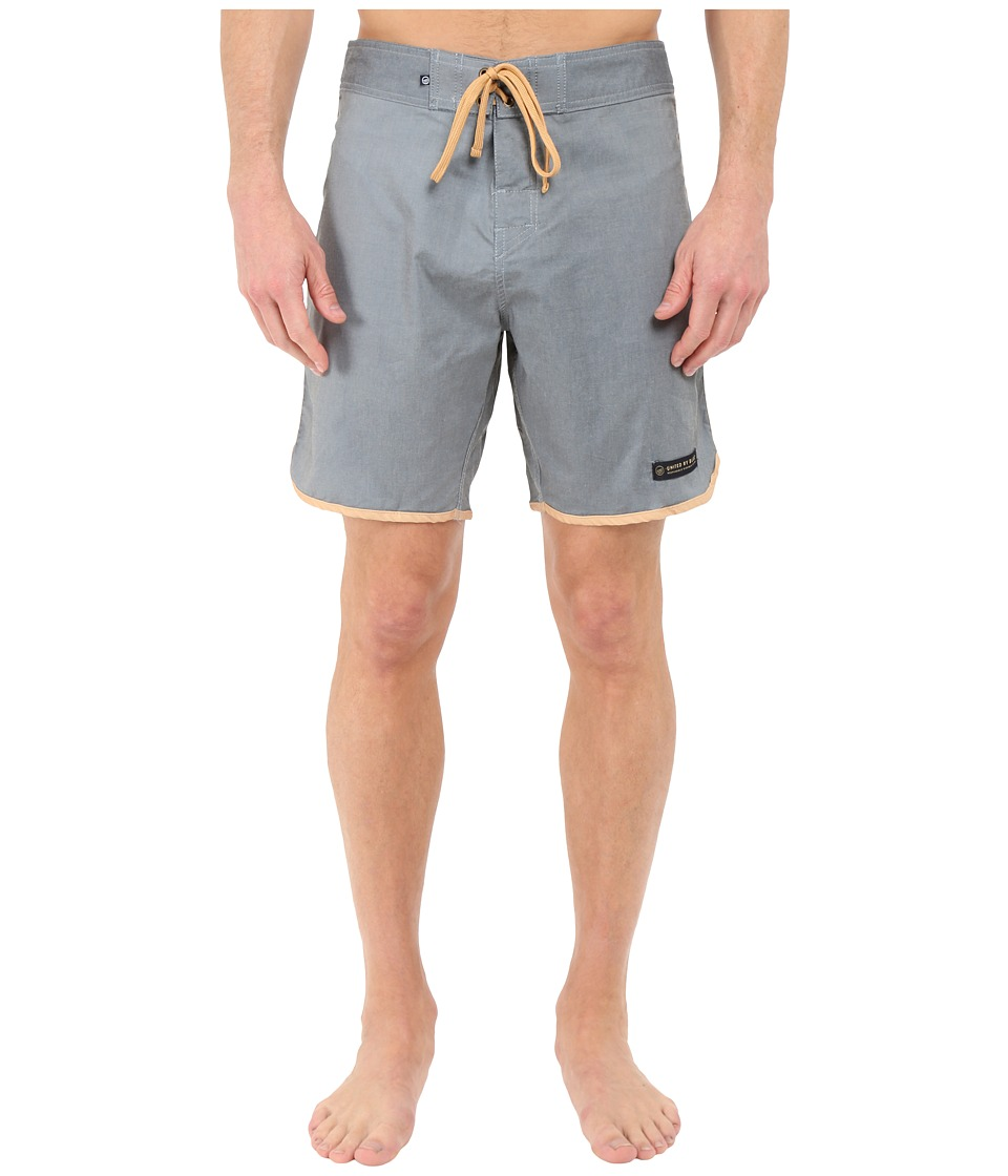 United By Blue - Kingfisher Scallop Boardshorts (Navy) Men's Swimwear