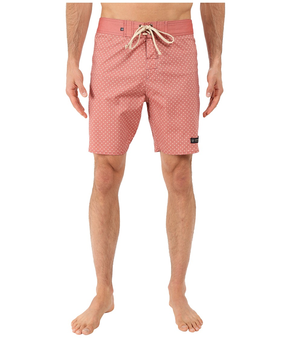 United By Blue Confluence Scallop Boardshorts (Red) Men