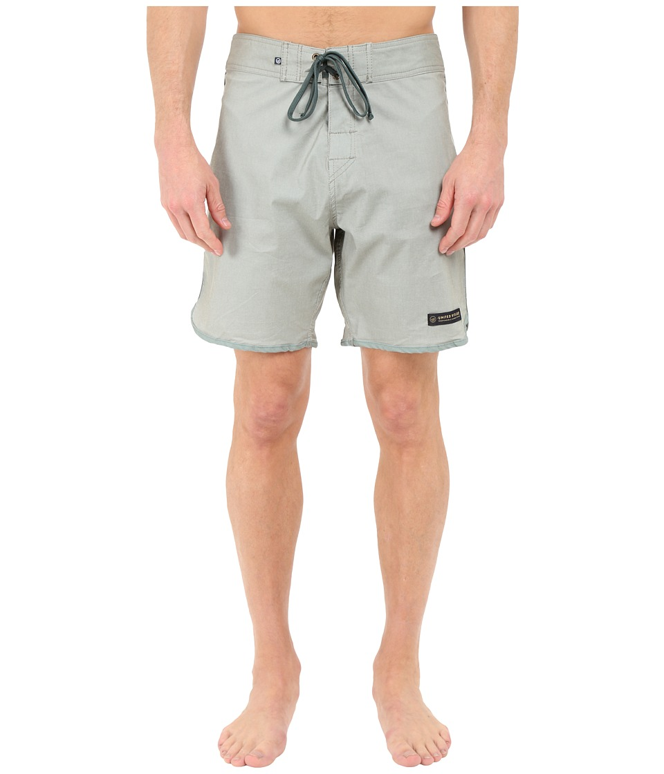 United By Blue - Kingfisher Scallop Boardshorts (Grey) Men's Swimwear