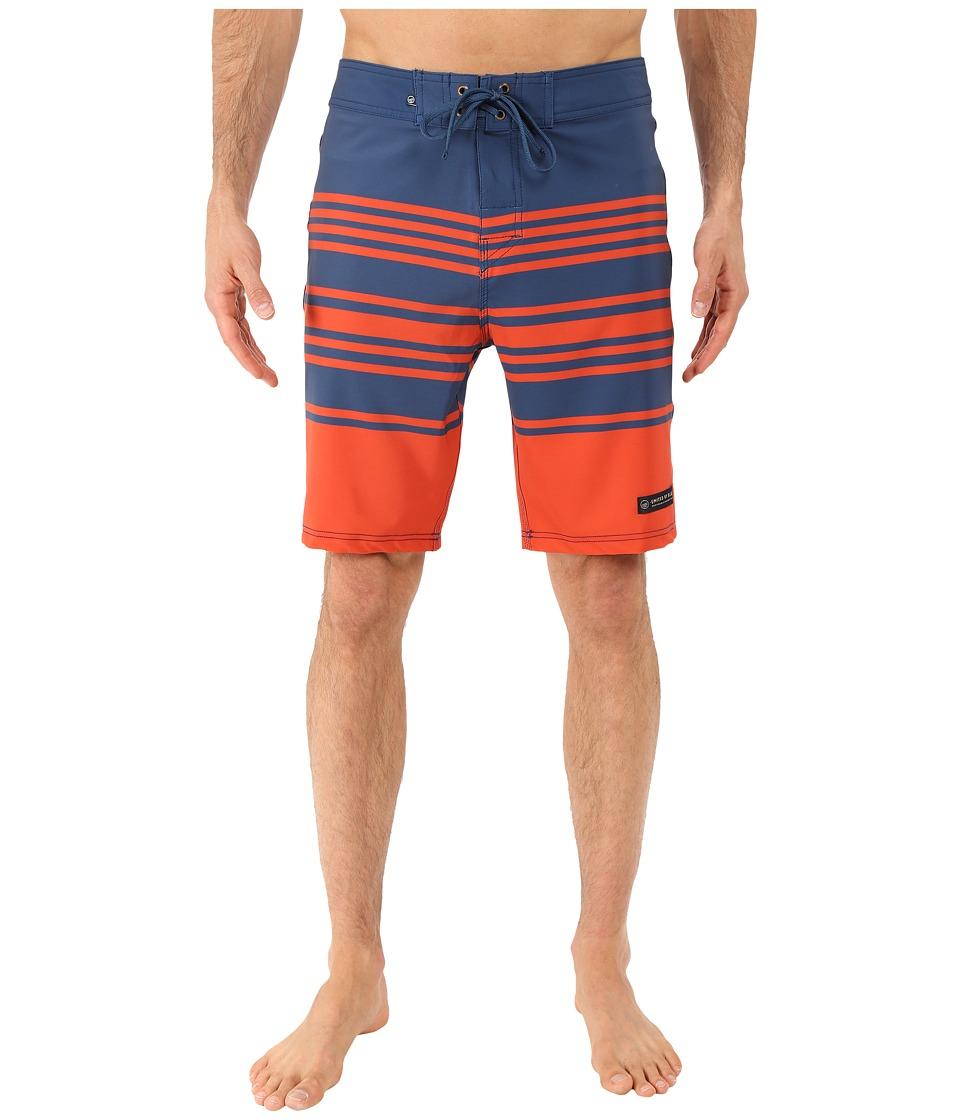 United By Blue - Headwaters Boardshorts (Navy) Men's Swimwear