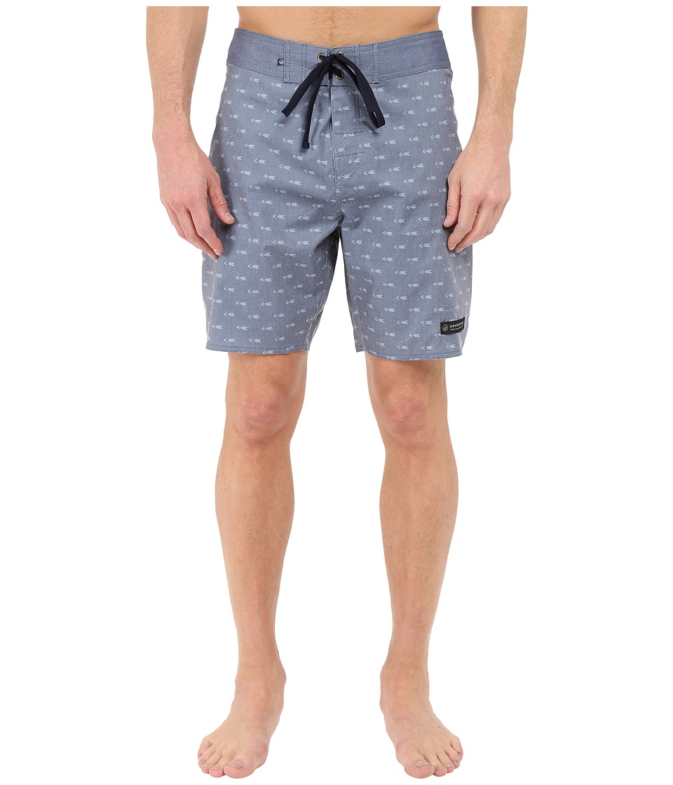 United By Blue - Longbow Scallop Boardshorts (Navy) Men's Swimwear