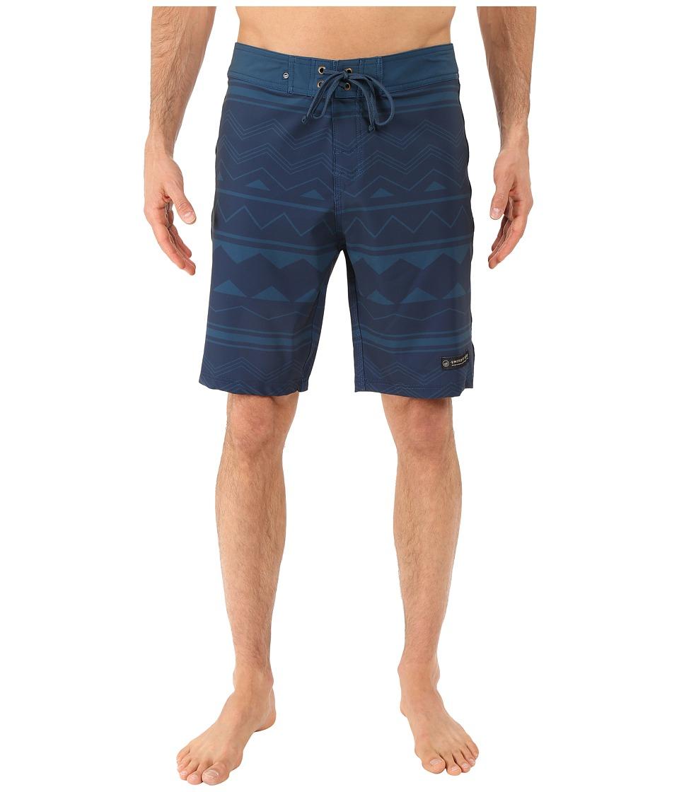 United By Blue - Westwater Boardshorts (Navy) Men's Swimwear