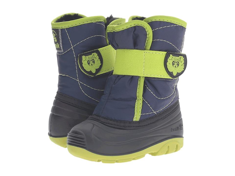 Kamik Kids - Snowbug 3 (Toddler) (Navy/Lime) Kid's Shoes