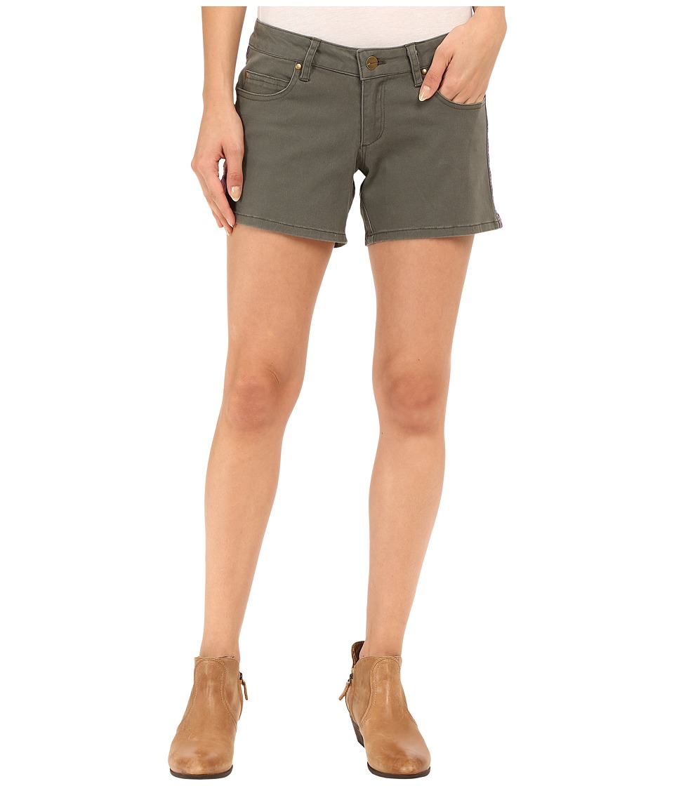 Stetson - Stretch Twill Boyfriend Fit Shorts (Green) Women's Shorts