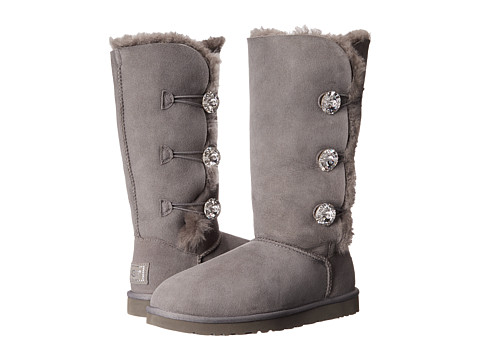 UGG - Bailey Button Bling Triplet (Charcoal) Women's Shoes